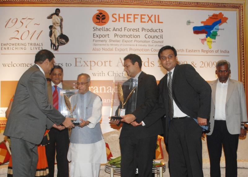 The Honourable President of India awarding our Directors